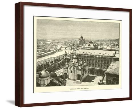General View of Moscow--Framed Art Print