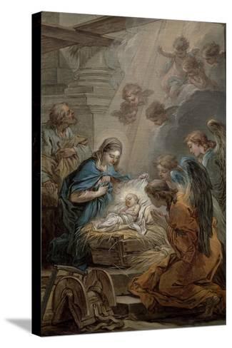 Nativity-Carle van Loo-Stretched Canvas Print