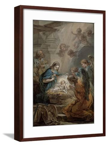 Nativity-Carle van Loo-Framed Art Print