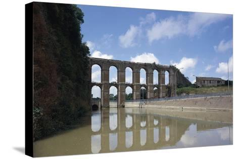 Arches of Aqueduct at Nepi--Stretched Canvas Print
