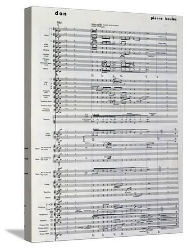 Music Score from Pli Selon Pli-Pierre Boulez-Stretched Canvas Print