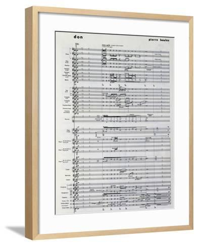 Music Score from Pli Selon Pli-Pierre Boulez-Framed Art Print