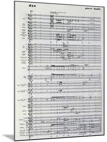 Music Score from Pli Selon Pli-Pierre Boulez-Mounted Giclee Print