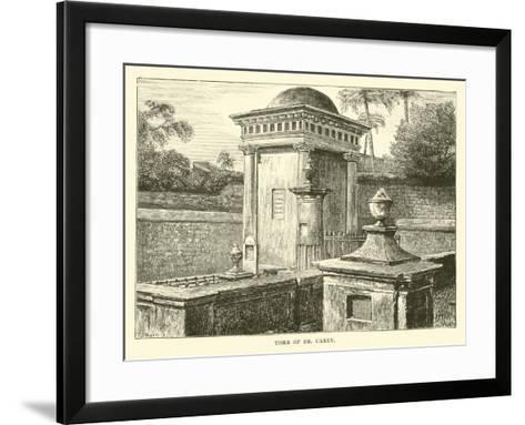 Tomb of Dr Carey--Framed Art Print