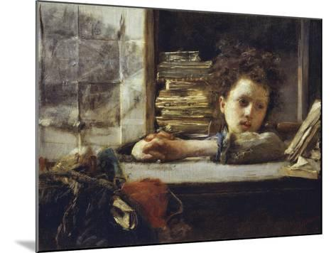In the Study-Antonio Mancini-Mounted Giclee Print