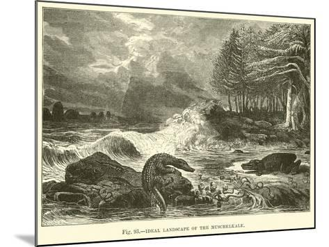 Ideal Landscape of the Muschelkalk--Mounted Giclee Print
