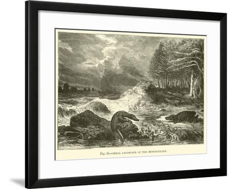 Ideal Landscape of the Muschelkalk--Framed Art Print