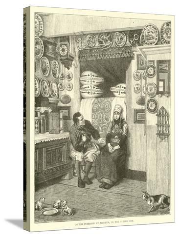Dutch Interior at Marken, in the Zuider Zee--Stretched Canvas Print
