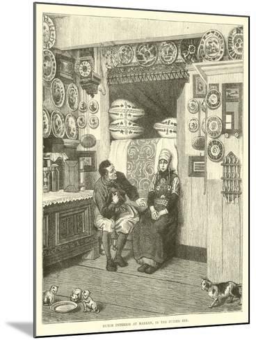 Dutch Interior at Marken, in the Zuider Zee--Mounted Giclee Print