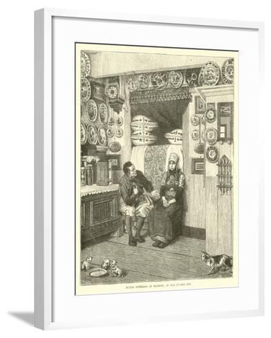 Dutch Interior at Marken, in the Zuider Zee--Framed Art Print