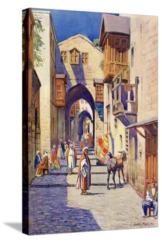 A Street in Jerusalem, C.1910-Harry Morley-Stretched Canvas Print