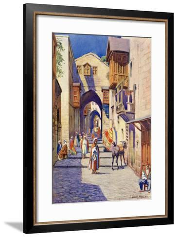A Street in Jerusalem, C.1910-Harry Morley-Framed Art Print