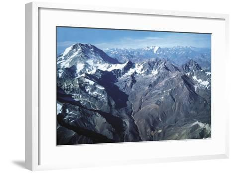 The Andes and Aconcagua--Framed Art Print