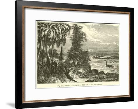 Ideal Landscape of the Lower Oolite Period--Framed Art Print