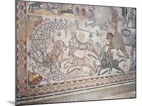 Mosaic of Little Hunt, Villa Romana Del Casale--Mounted Photographic Print