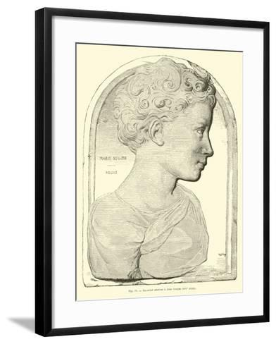 Bas Relief Attributed to Jean Goujon--Framed Art Print