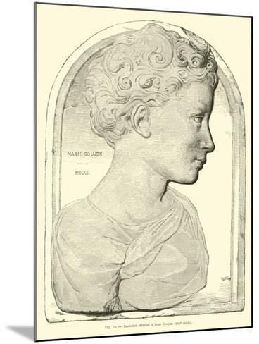 Bas Relief Attributed to Jean Goujon--Mounted Giclee Print