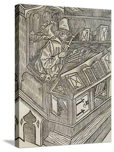 Inutiltas Librorum, from Ship of Fools--Stretched Canvas Print