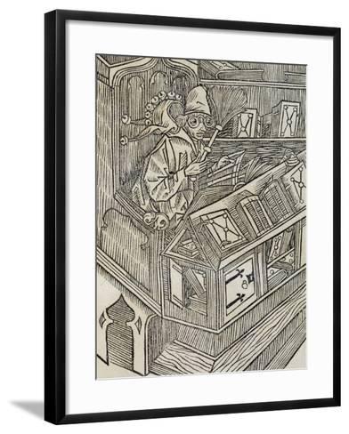 Inutiltas Librorum, from Ship of Fools--Framed Art Print