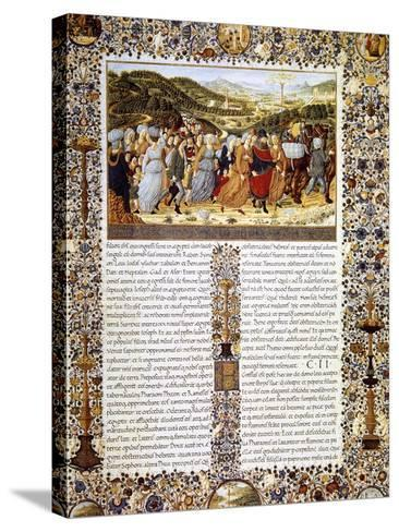 Urbinate Bible--Stretched Canvas Print