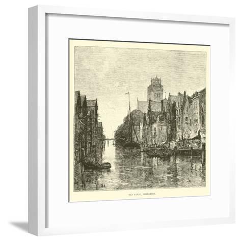 Old Canal, Dordrecht--Framed Art Print