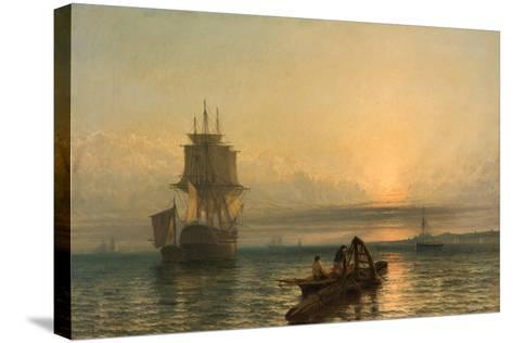 Sunrise at Sea, 1861–-66-Henry Dawson-Stretched Canvas Print