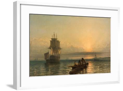 Sunrise at Sea, 1861–-66-Henry Dawson-Framed Art Print