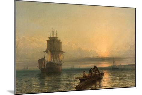 Sunrise at Sea, 1861–-66-Henry Dawson-Mounted Giclee Print