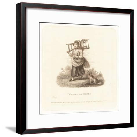 """""""Chairs to Mend!""""--Framed Art Print"""