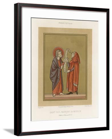 Saint Paul Receiving His Mission--Framed Art Print