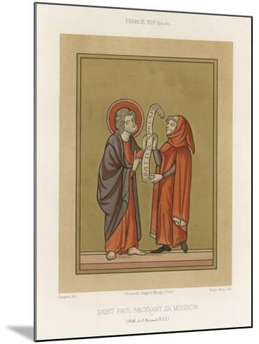 Saint Paul Receiving His Mission--Mounted Giclee Print