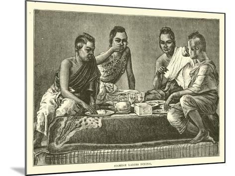 Siamese Ladies Dining--Mounted Giclee Print