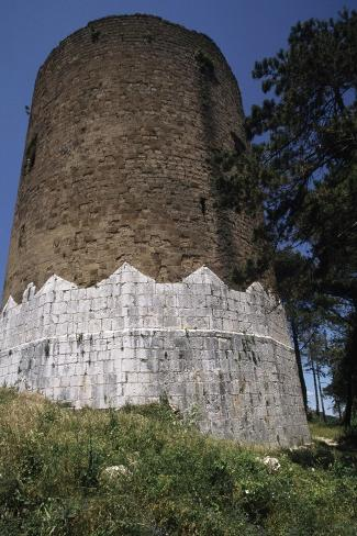 Circular Tower of Casertavecchia Castle--Stretched Canvas Print