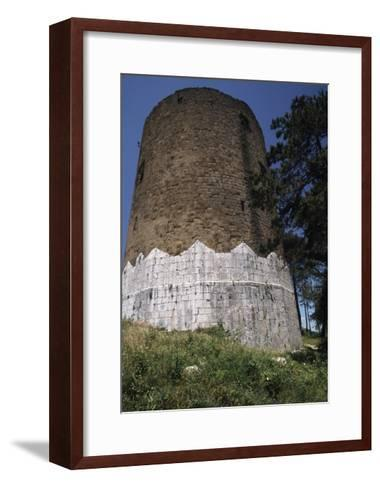 Circular Tower of Casertavecchia Castle--Framed Art Print