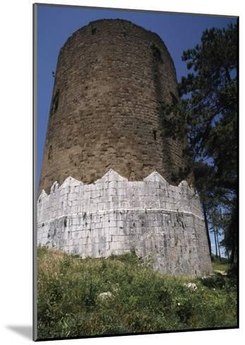 Circular Tower of Casertavecchia Castle--Mounted Giclee Print