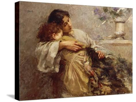 Orphans, 1896-Giuseppe Mentessi-Stretched Canvas Print