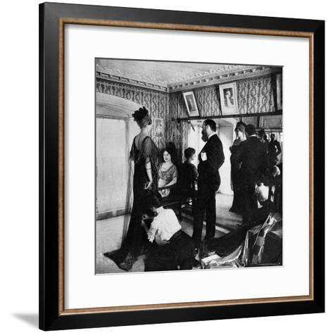 Jacques Doucet in His Atelier, 1910--Framed Art Print