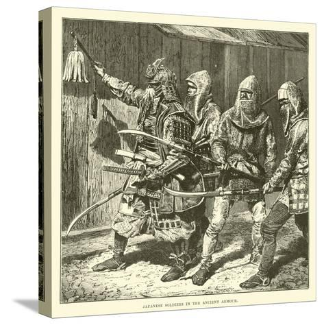 Japanese Soldiers in the Ancient Armour--Stretched Canvas Print