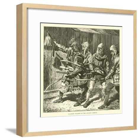 Japanese Soldiers in the Ancient Armour--Framed Art Print
