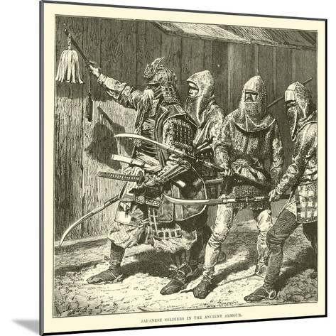 Japanese Soldiers in the Ancient Armour--Mounted Giclee Print