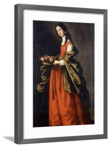 Saint Dorothea-Francisco de Zurbaran-Framed Art Print