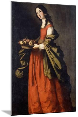 Saint Dorothea-Francisco de Zurbaran-Mounted Giclee Print