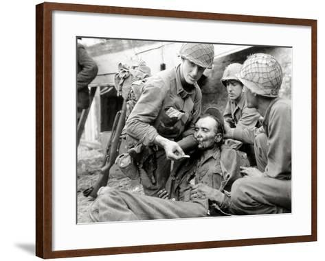 A German Soldier--Framed Art Print