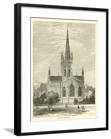 Calcutta Cathedral--Framed Art Print