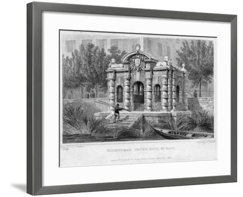 Buckingham Water Gate, Strand, 1830--Framed Art Print