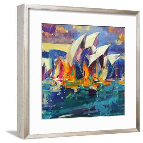 Sydney Flying Colours, 2012-Peter Graham-Framed Art Print