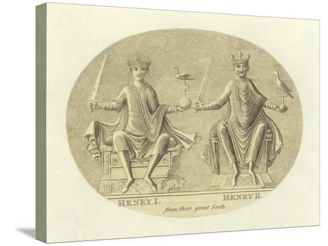 Henri I and Henry II, Kings of England--Stretched Canvas Print
