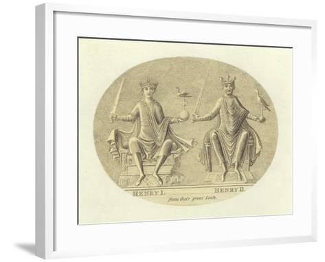 Henri I and Henry II, Kings of England--Framed Art Print