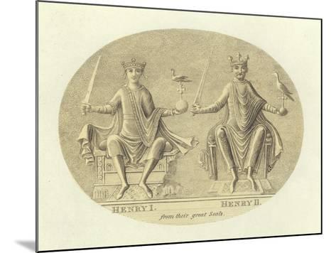 Henri I and Henry II, Kings of England--Mounted Giclee Print
