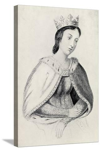 Eleanor of Provence--Stretched Canvas Print
